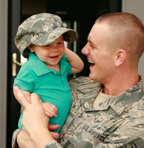 how to get in the military as a single parent Being a parent is challenging, and it's even harder when you don't have a spouse to support you here, a military mom whose husband is overseas has her own call of duty.